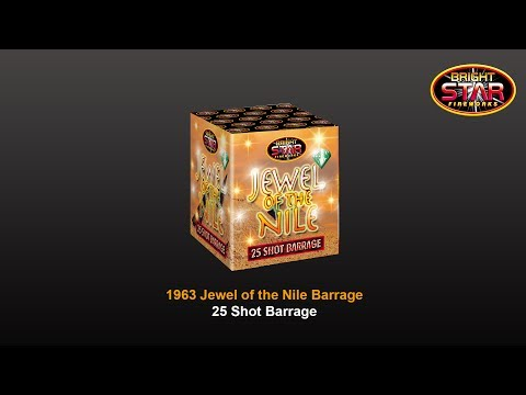 Bright Star Fireworks Jewel of the Nile - 25 Shot Barrage Firework