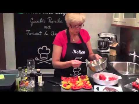 Koken met Etty, Gevulde paprika met Tomaat en Ansjovis