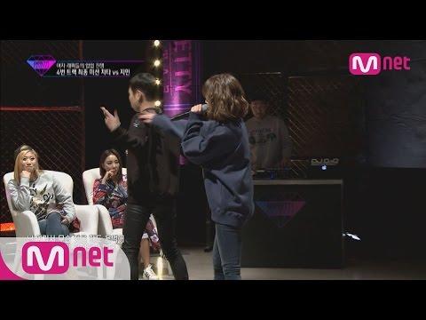 [Unpretty Rapstar]ep.06: Jimin(지민) vs Cheetah(치타) #4 track mission final 1:1 battle