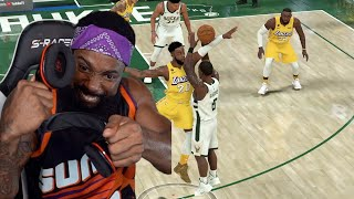 I Broke My Headsets Because Of This Scripted Game! Lakers vs Bucks Playoffs NBA 2K20 Ep 44