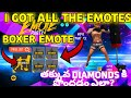 I GOT Boxer emote and all emotes for less diamonds in emote party event in free fire|Get boxer emote