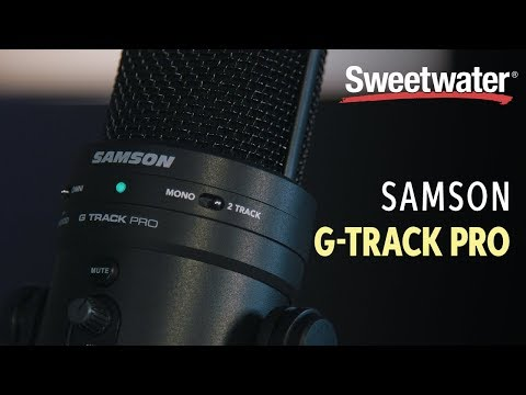 video Samson G-Track Pro – Professional USB Microphone with Audio Interface
