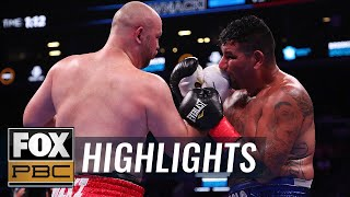 Kownacki and Arreola set record for most punches in heavyweight fight | HIGHLIGHTS | PBC ON FOX