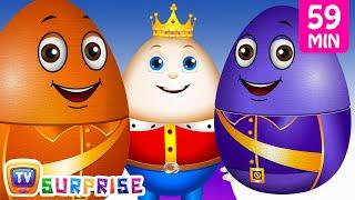 Learn Colours with Surprise Nesting Eggs Nursery Rhymes Toys   Humpty Dumpty   ChuChu TV Field Trip!