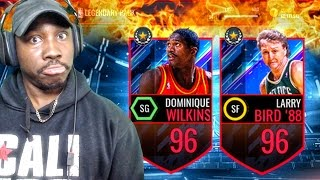 LEGENDARY PACK OPENING & NEW 96 OVERALL WILKINS & BIRD! NBA Live Mobile 16 Gameplay Ep. 110