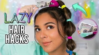 DIY Hair Hacks Every LAZY PERSON Should Know!Quick & Easy Hairstyles for School!