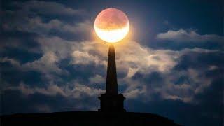 Gran parte del mundo observa un eclipse lunar parcial