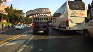 Driving through Rome