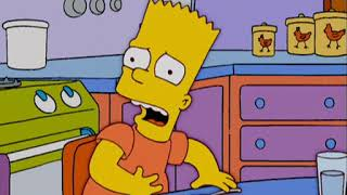 The Simpsons eat vegetables