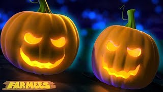Scary Pumpkin Song | Halloween Rhymes And Kids Songs | Spooky Cartoons by Farmees