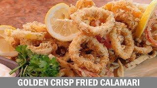 How To Make Crispy Fried Calamari *Golden*
