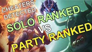 Dota2 CHEATER in Server Japan-  Solo ranked vs Party ranked WTF ???