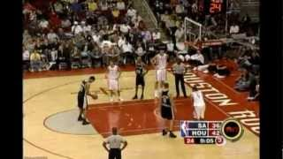 Rockets vs Spurs 09.12.2004 Tracy McGrady 13 points during 40 seconds full match