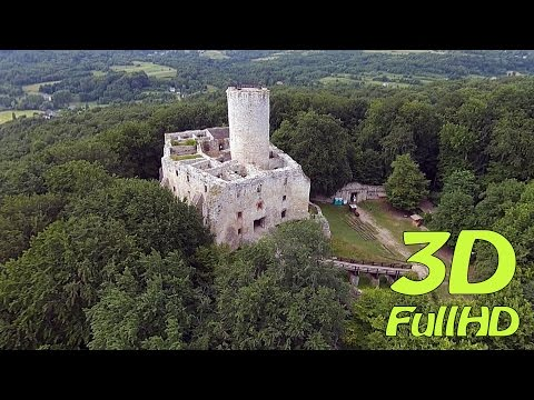 [3D] Zamek Lipowiec / Lipowiec Castle, Wygiełzów, Babice, Poland / Polska