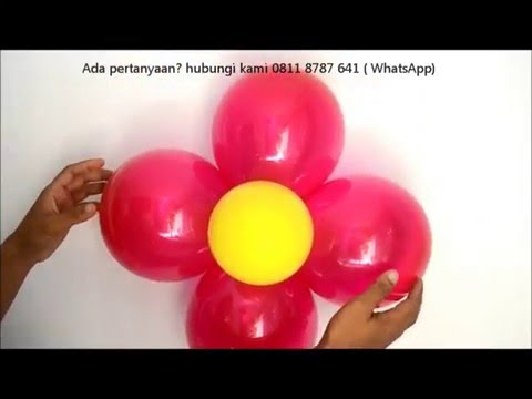 Cara Membuat  Balon Bunga Super Mudah