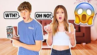 Reacting To My Crush's  iPhone CHALLENGE ** TRUTH REVEALED** 📱😱 ft. Sophie Fergi | Nathan Smith