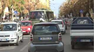 OurTour driving in Palermo, Sicily. Italian roads are chaos!