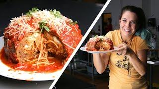 Giant Spaghetti-Stuffed Meatball: Behind Tasty