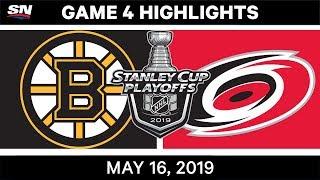 NHL Highlights   Bruins vs. Hurricanes, Game 4 – May 16, 2019