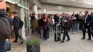 El Barça llega al hotel de concentración de Dortmund