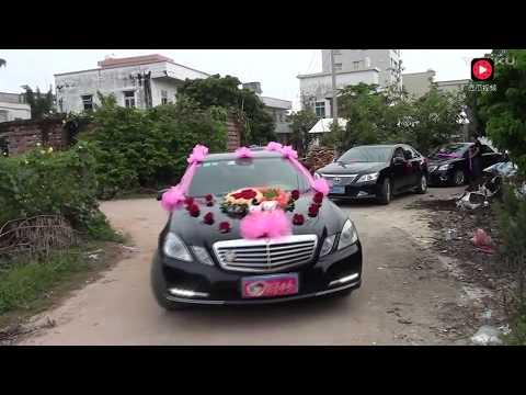 迎亲的 接新娘车队 配着王二妮 阿宝的经典歌曲 越看越好看