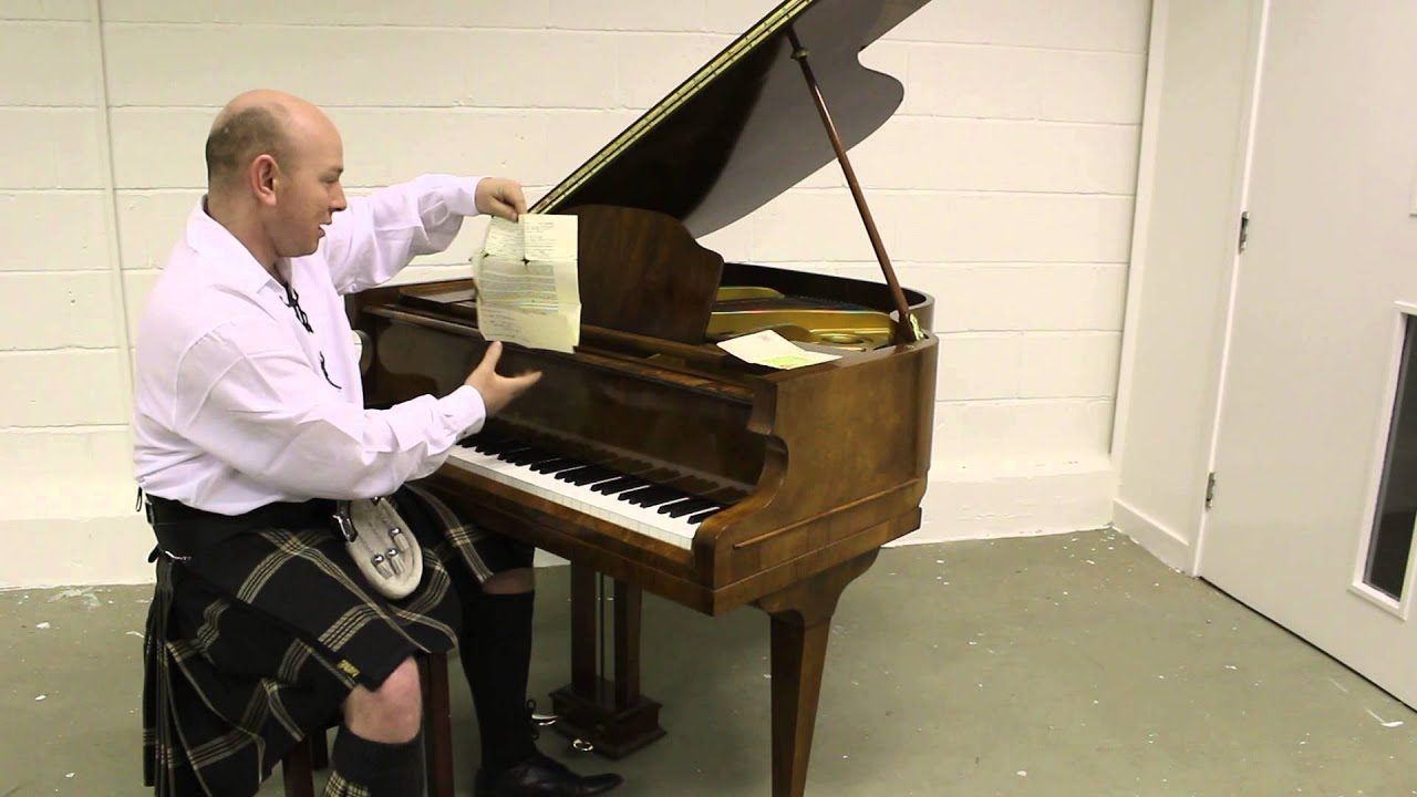 Walnut Boyd Small Baby Grand Piano Demonstrated By