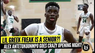 Giannis little bro Alex Antetokounpo is a High School Senior?! 30 POINT GAME Opening Night!