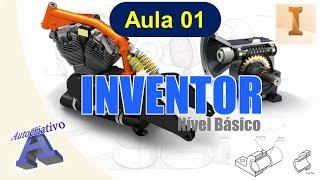 Curso de  Inventor - Nível Básico - Aula 01/20 - Interface do Usuário - Autocriativo