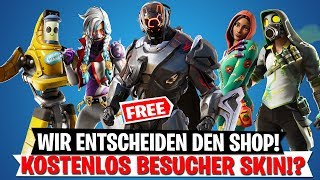 WIR ENTSCHEIDEN NEUE SKINS! Kostenloser Besucher Skin Leak!?   Fortnite Deutsch
