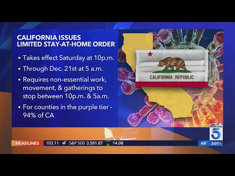 California issues 'limited' stay-at-home order; all SoCal counties impacted