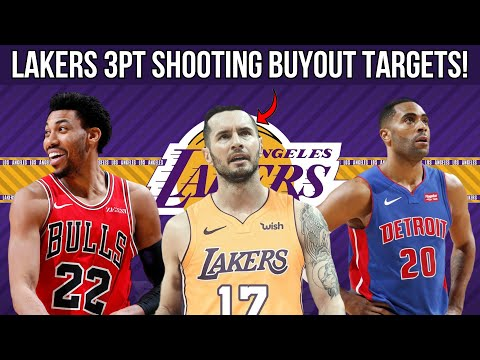 Los Angeles Lakers 3PT SHOOTING BUYOUT MARKET TARGETS! 5 Potential Free Agent 3pt Shooters!