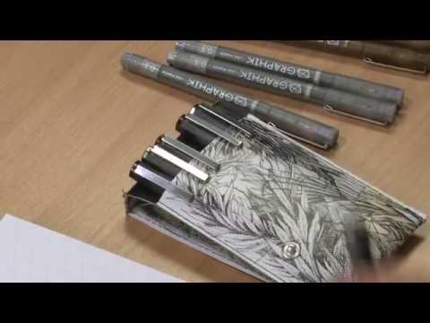 Graphik Line Maker Black Pen Pack of 6