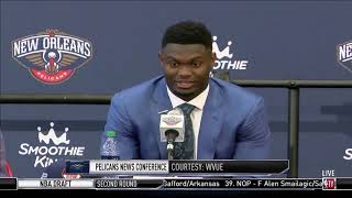 Zion Williamson Is Excited To Play For The New Orleans Pelicans