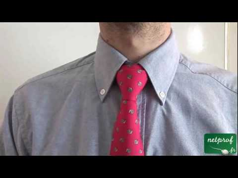 arts de vivre noeud de cravate double youtube. Black Bedroom Furniture Sets. Home Design Ideas