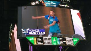 BACKPACK KID ON HORNETS DANCE CAM!