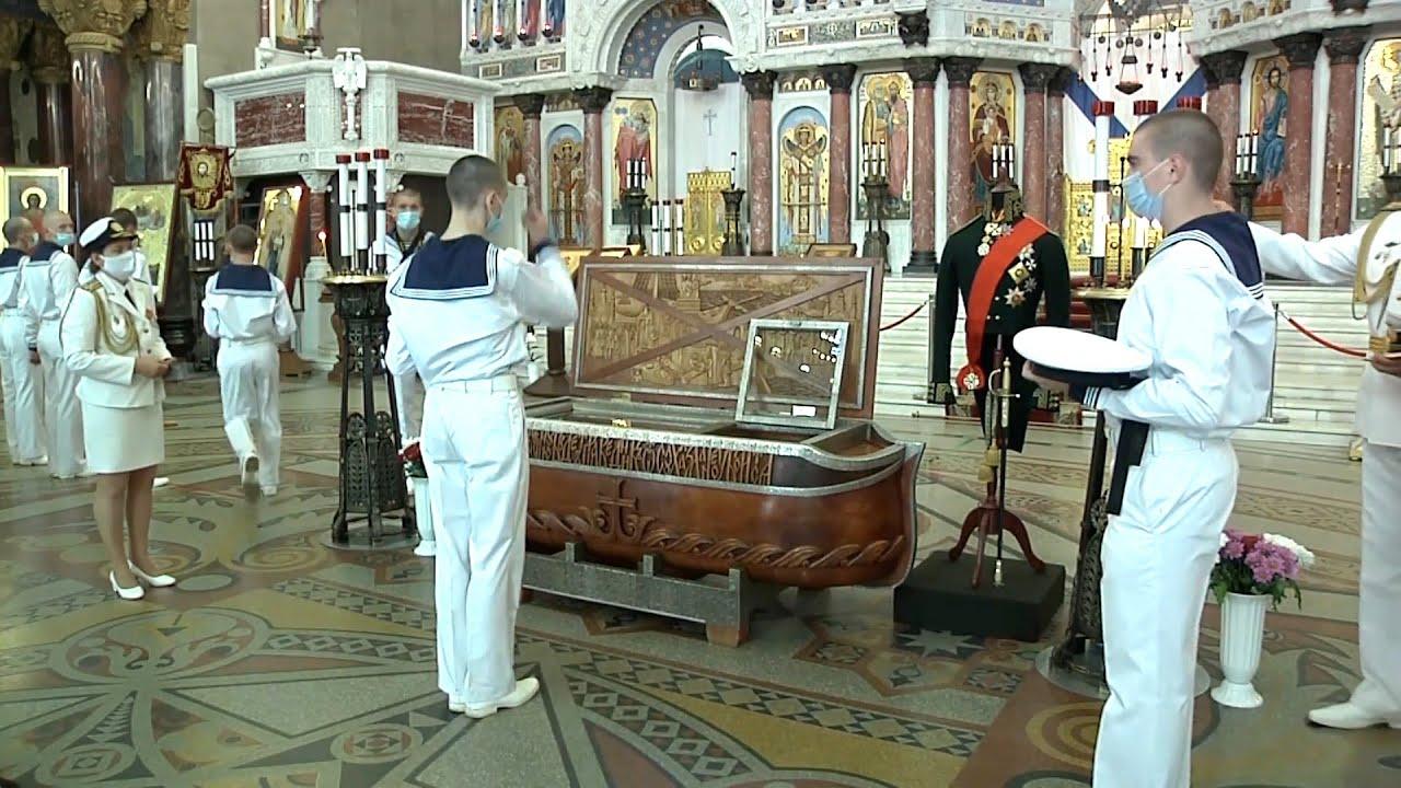В Санкт Петербург привезли мощи адмирала Ушакова