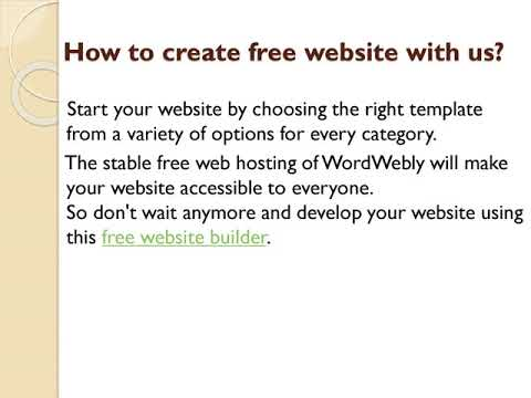WordWebly | Free Website Builder