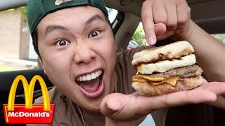 MCDONALD'S SECRET MENU BURGER TASTE TEST!!