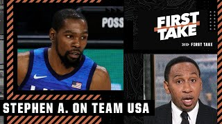Stephen A. reacts to Team USA's 2nd loss: KD could 'end up being severely tarnished'   First Take