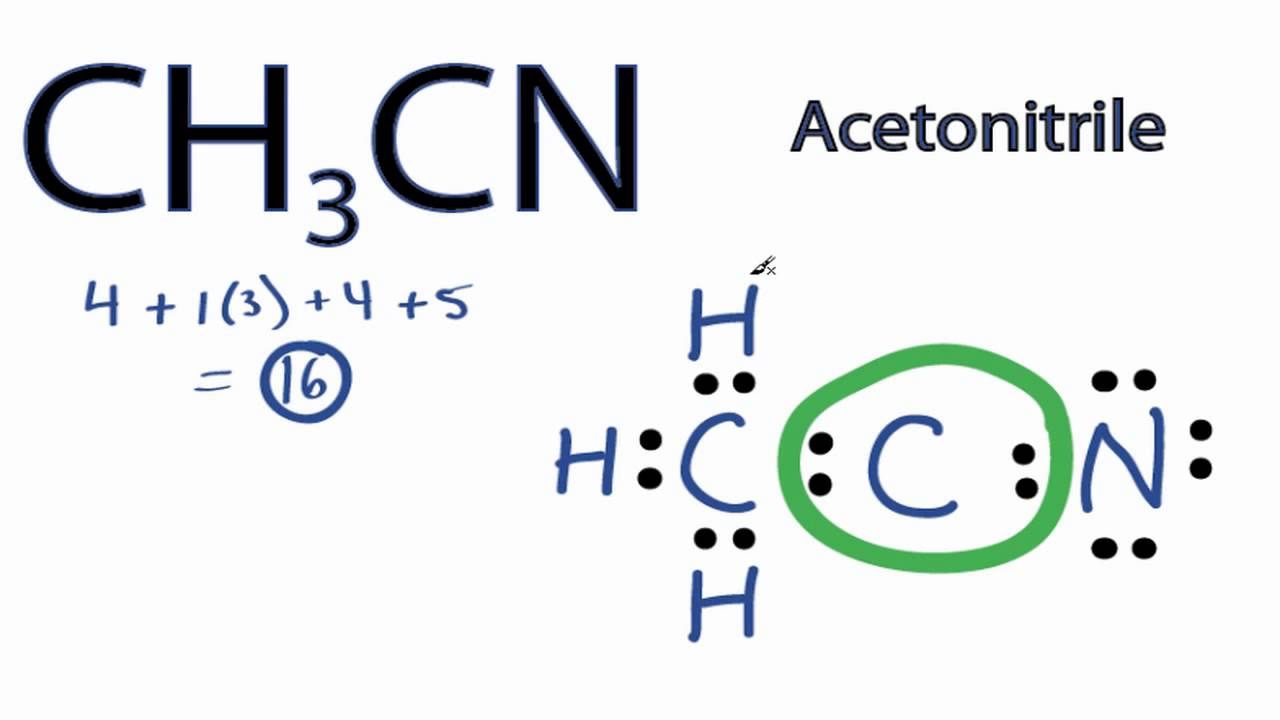 CH3CN Lewis Structure: How to Draw the Lewis Structure for ...  CH3CN Lewis Str...