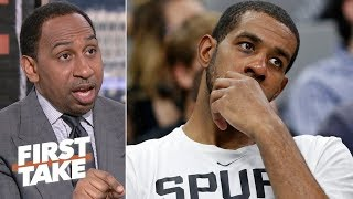 The Spurs aren't a threat in the West until LaMarcus Aldridge steps up - Stephen A. | First Take