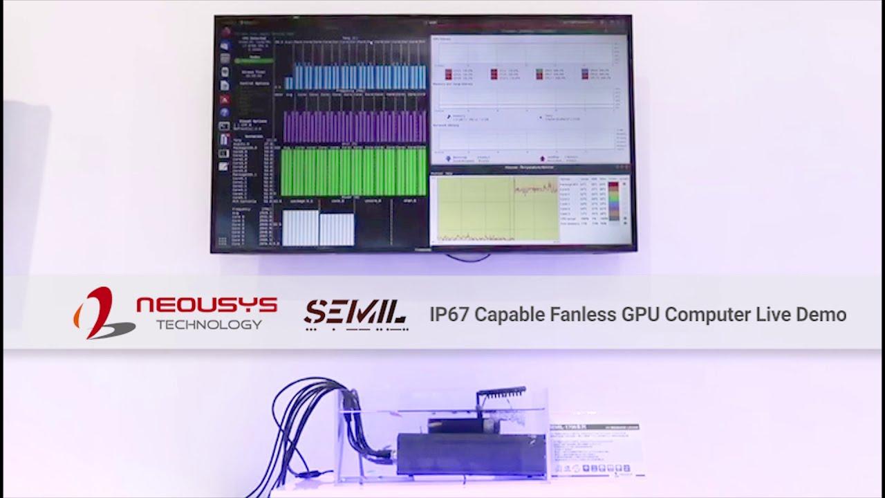 Neousys SEMIL-1700GC Live Demo IP67 Waterproof Capable Fanless GPU computer