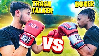 BOXER VS TRASH TALKER ( *EXPOSED!! )