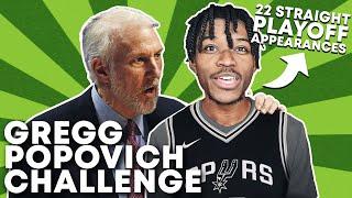 GREGG POPOVICH REBUILDING CHALLENGE IN NBA 2K21 | 22 STRAIGHT PLAYOFFS