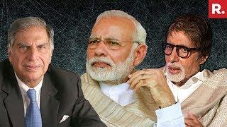 Big B & Ratan Tata Join PM Modi's 'Swachhata Hi Seva'..