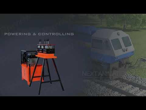 Re-railing equipment Portable Rerailing equipment