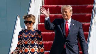 Donald Trump arrives in Florida as Joe Biden sworn in as next US president