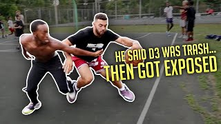 He MADE FUN OF D3 Hoopers & Got EXPOSED! (Park 5v5 Bball)