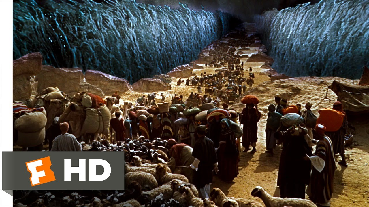 Moses and the Red Sea Crossing |The Red Sea Crossing Heston