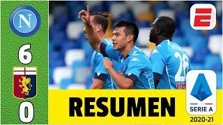 Napoli 6-0 Genoa DOBLETE DEL CHUCKY Hirving Lozano en la goleada de los de Gennaro Gatusso   Serie A